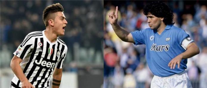 Paulo Dybala and Diego Maradona