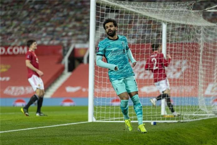 Mohamed Salah in the last Manchester United match in the FA Cup