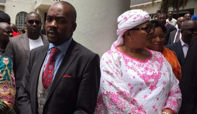Image result for Chamisa and Khupe pictures