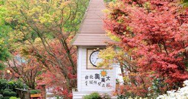 『台北楓紅』陽明山火紅楓葉季,台北奧萬大(4/3轉紅情況)
