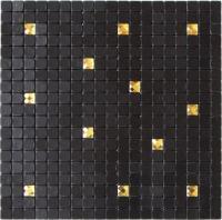 Waterproof Black Self Adhesive Mosaic Wall Tiles , Peel ...