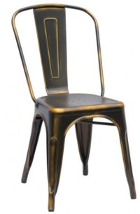 Spray Painted Metal Dining Chair - 48801536