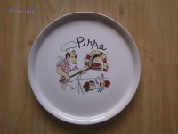WSY125S White Decal Printing Ceramic Pizza Plate(WSY125S ...