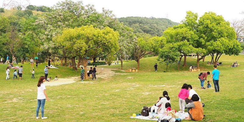 <台中清水> 鰲峰玉帶,清水鰲峰山景觀橋,苦楝花環繞,還有大片陽光草坪好適合溜小孩!
