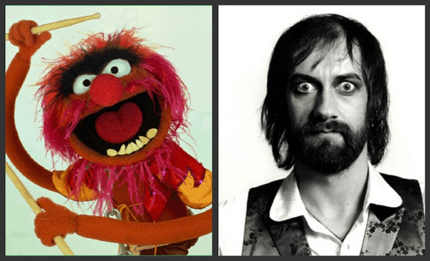 A lightbulb just went off in your head, right? That's right, it is rumored that the Muppet's beloved, crazed-drummer Animal is inspired after Fleetwood. They do look alike, after all.