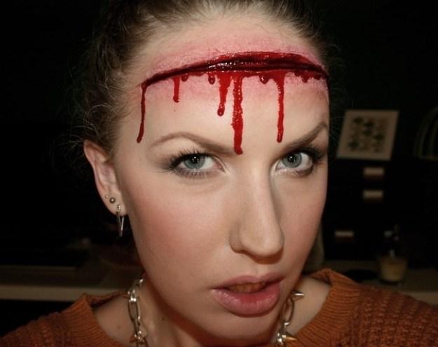 Gaping Wound Makeup