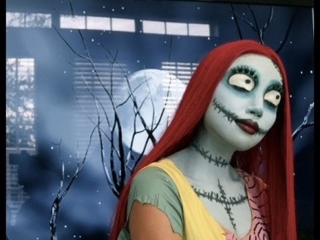 Sally from The Nightmare Before Christmas Makeup