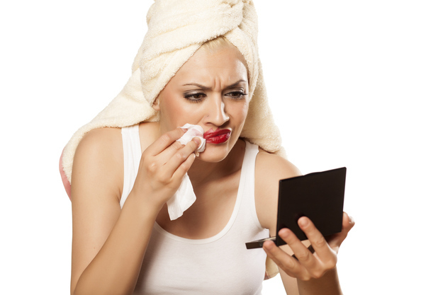 Relying on makeup cleansing wipes to wash your face.