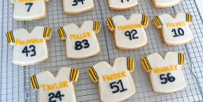 These Superbowl Sugar cookies are sure to be a real hit at any party!