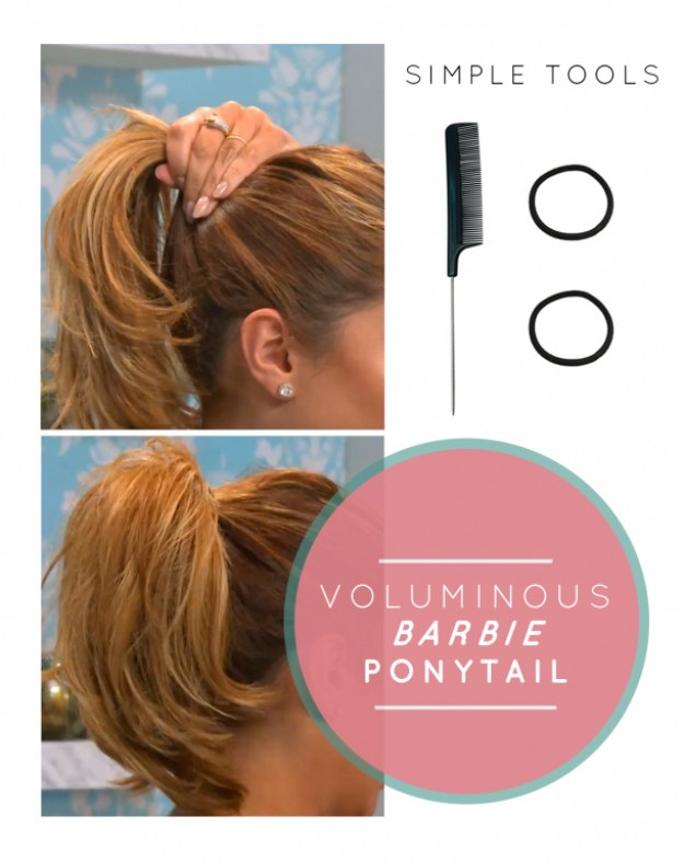 And if you don't want to fuss with bobby pins, here's how to do it with two hair ties.