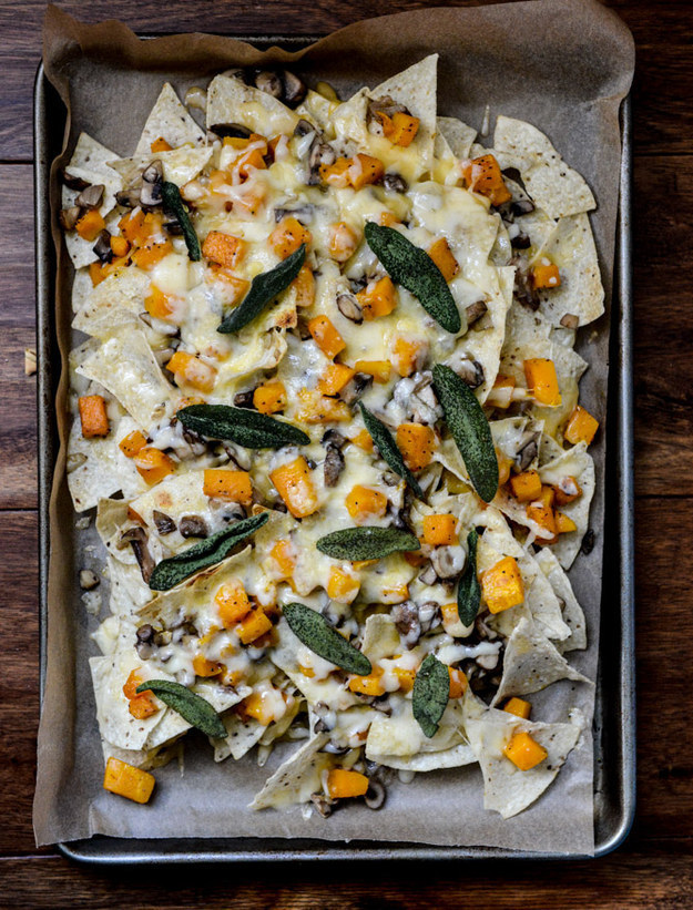 Butternut Squash And Fontina Nachos With Crispy Sage