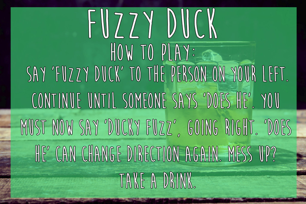 15 simple drinking games