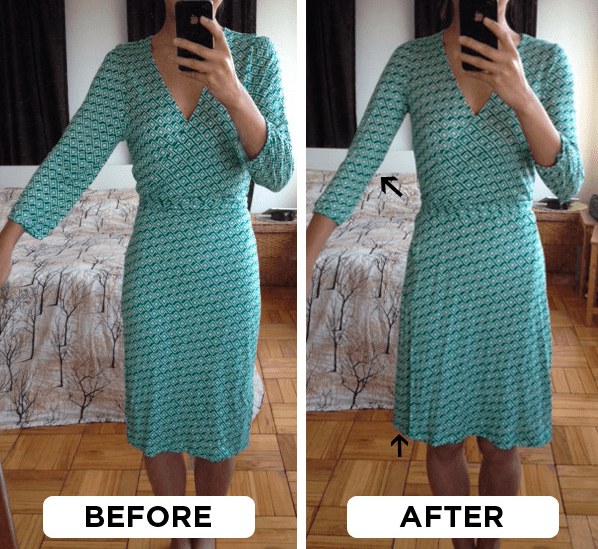 Things won't always fit perfectly off the rack, but you can often still make them work with simple DIY alterations. Like this one for slimming sleeves and raising the neckline: two small changes that can make a big difference. Find three ways to do this — two of which are beginner-friendly — here.