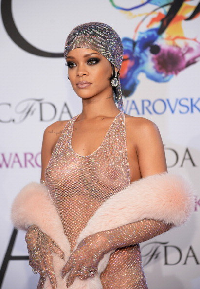Rihanna at the CFDA fashion awards.