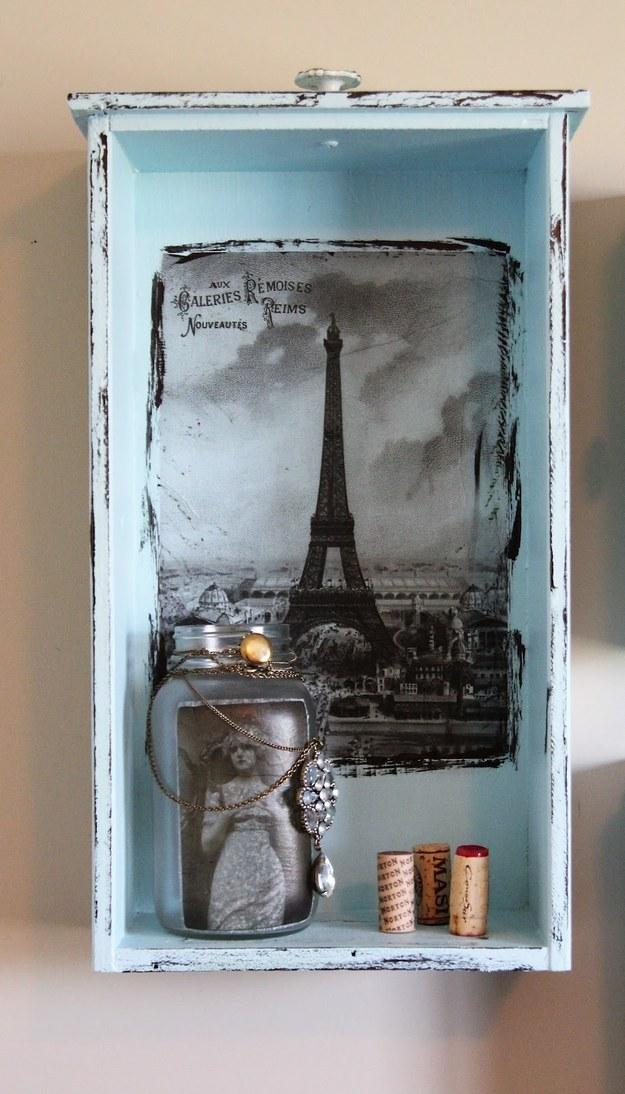 Convierte una vieja gaveta en un mini-estante: