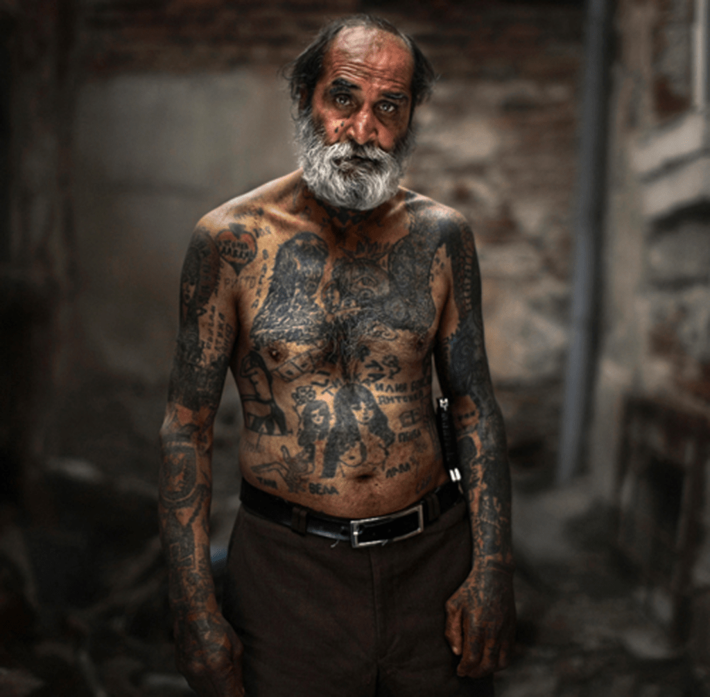 Heavily Tattooed Person