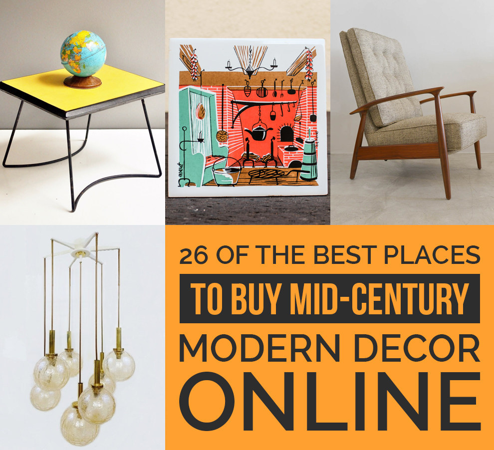 26 Of The Best Places To Buy MidCentury Modern Decor Online