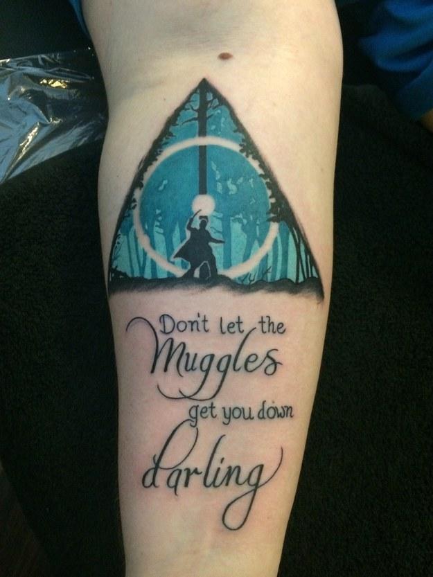 42 Tatuajes Increíbles De Harry Potter Que Solo Los Muggles Odiarían
