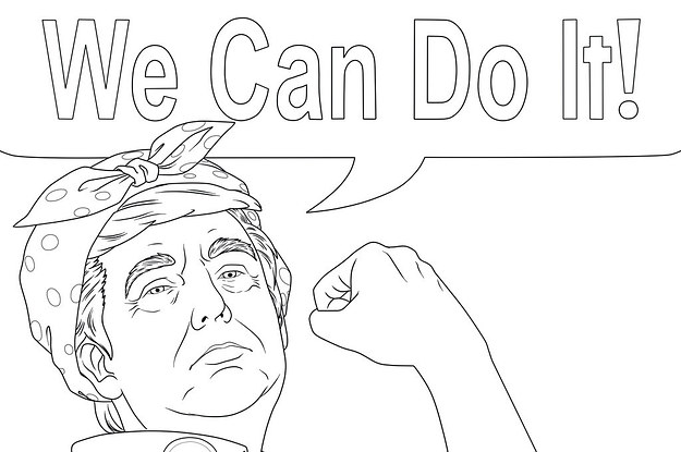 This Is What A Donald Trump Coloring Book For Adults Looks