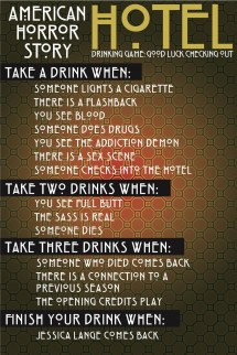 "Ultimate ""american Horror Story Hotel"" Drinking Game"
