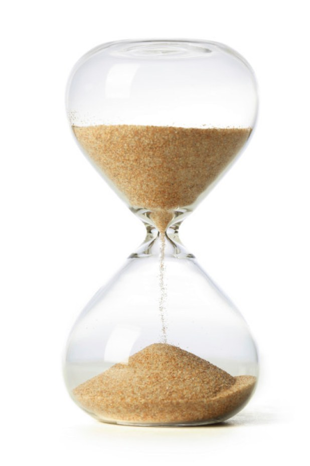 Keep a sand timer in your room if you're constantly running late because you lose track of time.