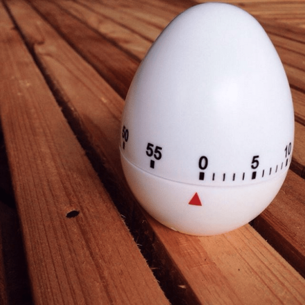 Use an old-school cooking timer instead of your phone, which is full of distractions.