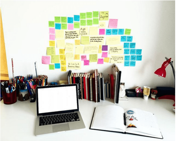 Keep your workspace as organized as possible.