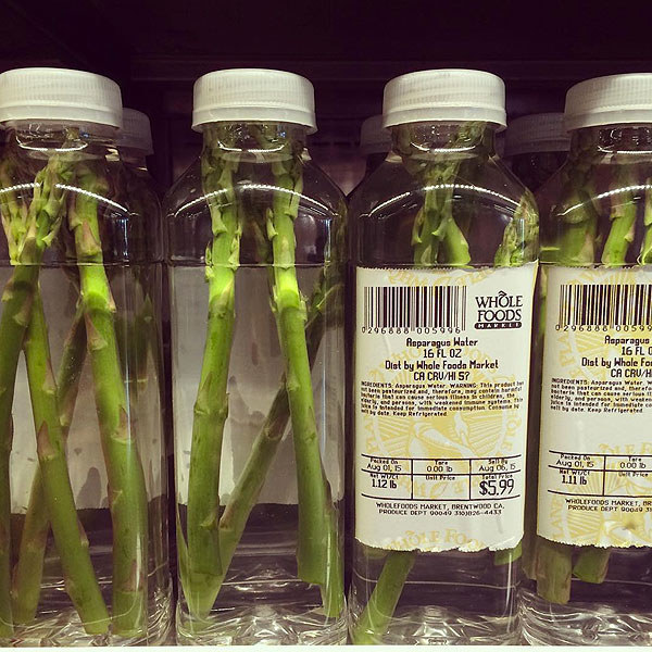 Whole Foods' $6 asparagus water.