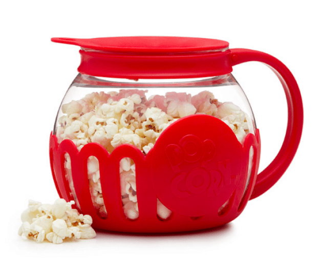 This popper for when you can't choose between microwave popcorn and stovetop popcorn.