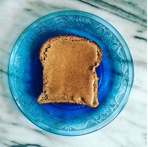 Serving size: 1 piece whole grain toast 1 tablespoon peanut/almond/cashew butter