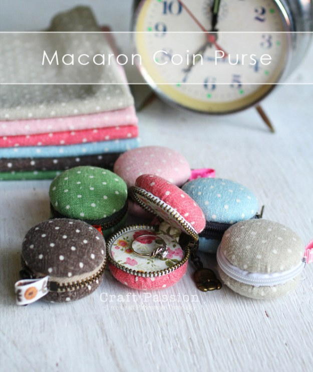 If you lose change or rings often, this tiny macaron pouch is here to help.