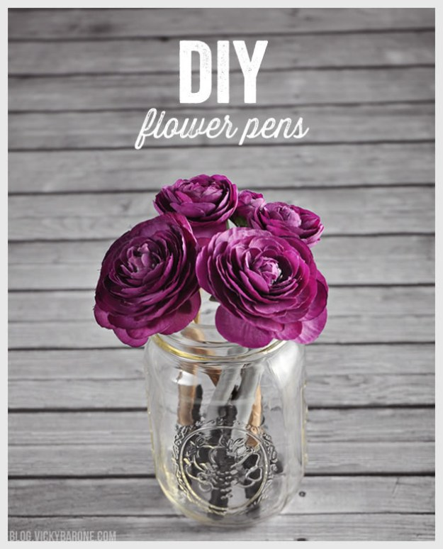 Or liven up your desk with a pen bouquet.