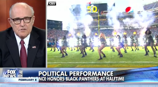 "The day after the big game, former Mayor of New York City Rudy Giuliani gave his thoughts on Beyoncé's halftime performance, saying, ""I thought it was really outrageous that she used it as a platform to attack police officers."""