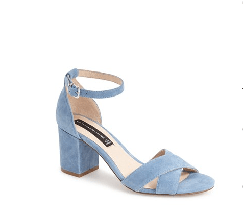 These sweet blue ankle strap heels.
