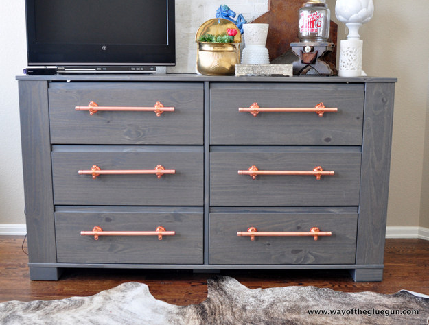 Upgrade your dressers with drawer pulls.
