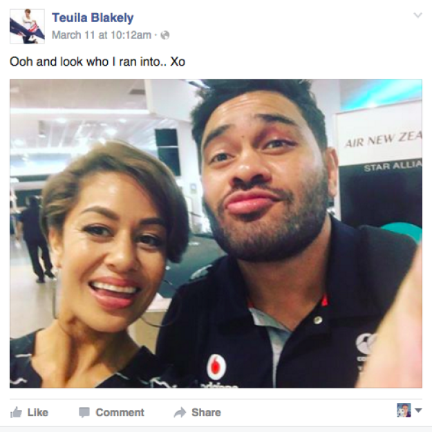 On Friday, Blakely posted a photo of her and Hurrell at the airport and prompted a tonne of comments mocking the actress and rugby player.