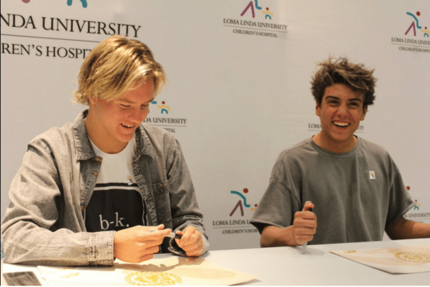 Daniel and Josh did a meet and greet and signed autographs with some of the patients, who were very excited to talk to them.