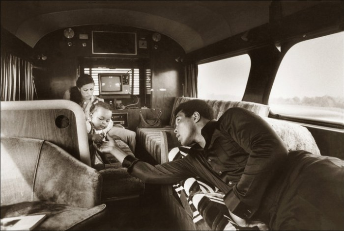 Ali and his family in the RV heading from Deer Lake to Washington, DC, for a special White House visit to see US president Jimmy Carter, 1977.