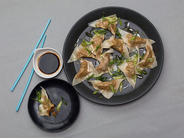 Roast Squash and Pork Dumplings