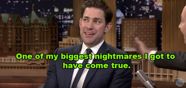 ...but little did he know, Krasinski had a slightly embarrassing story to tell about something that happened to him during a recent performance.