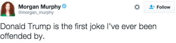 This zinger of a tweet: