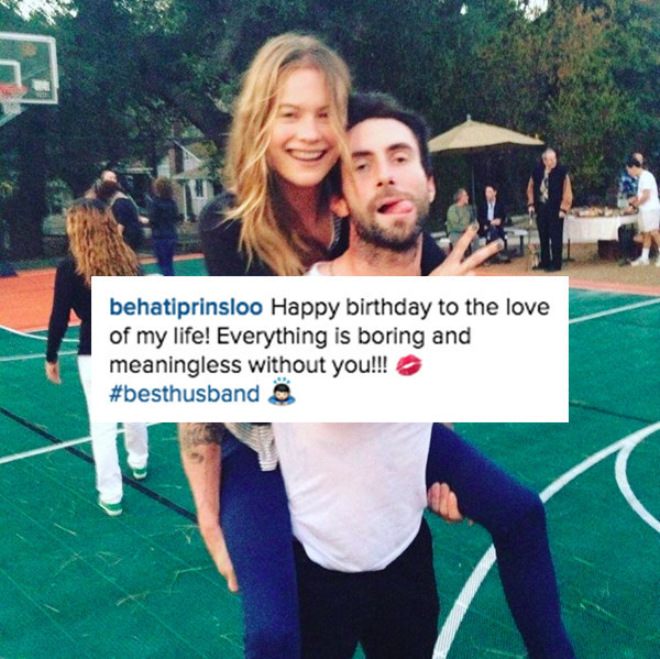 His wife, Behati Prinsloo, shared a cute little birthday 'gram in his honor.