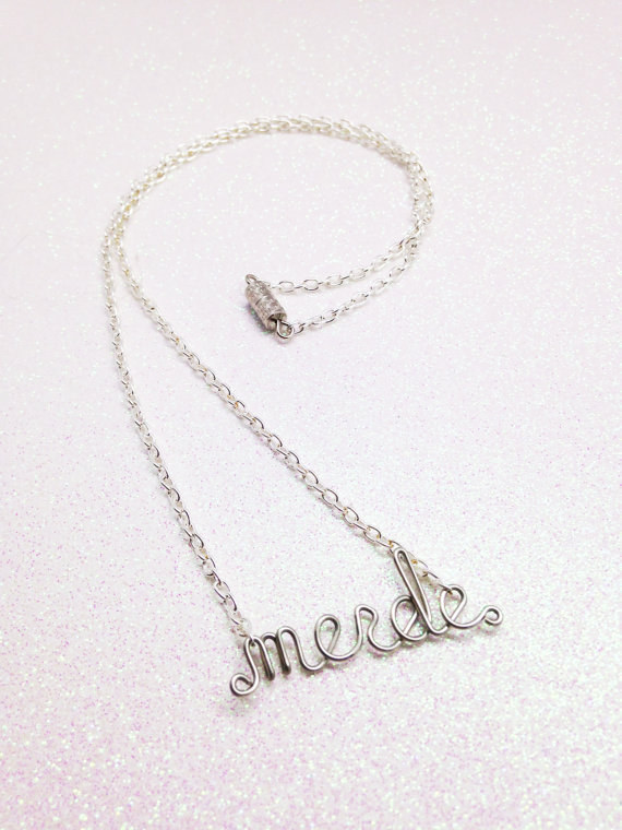 A word necklace when you really want to ~pardon your French~.