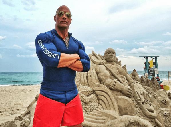 He looks hot on the beach.