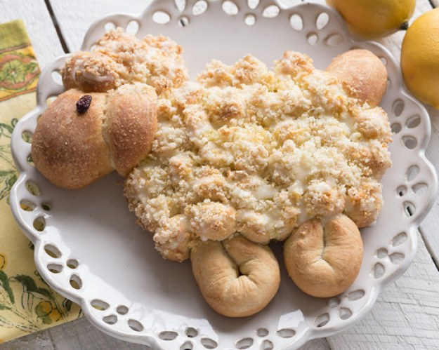 Lemony Lamb Pull-Apart Bread