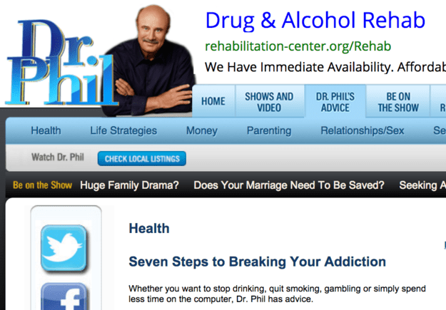 I needed help quitting, so I turned to the only doctor I could trust: Dr. Phil.