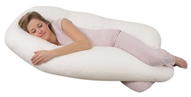 This pillow that's meant for pregnant women but is really all that any of us really want in life ($64.99).