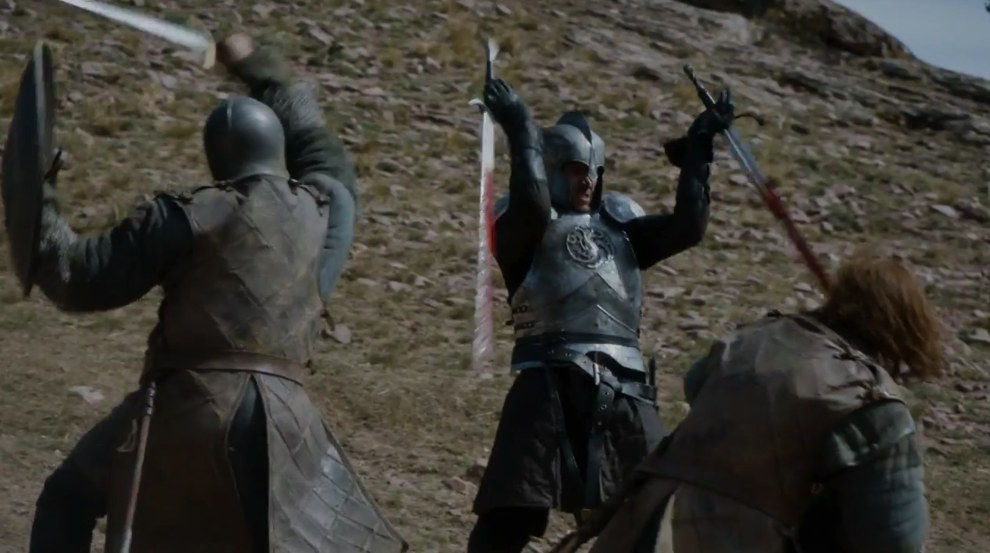 And now we get to see something we've never seen before: Targaryen armour!