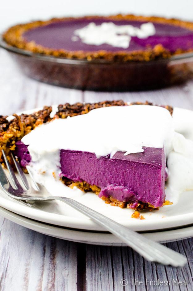Vegan Purple Sweet Potato Pie