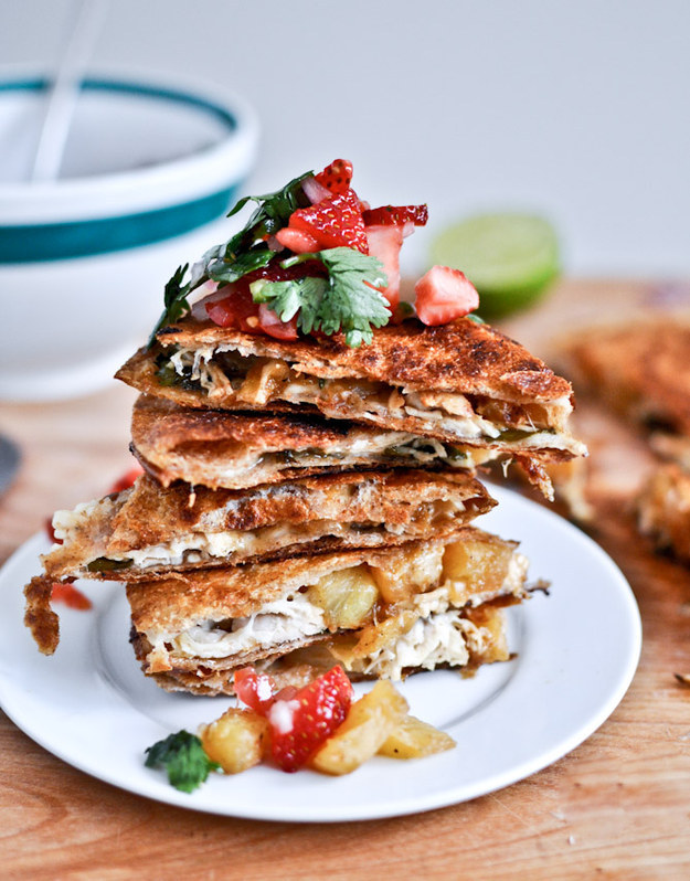 Caramelized Pineapple Quesadilla
